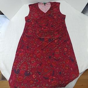 Ralph Lauren faux wrap dress 2X burgundy